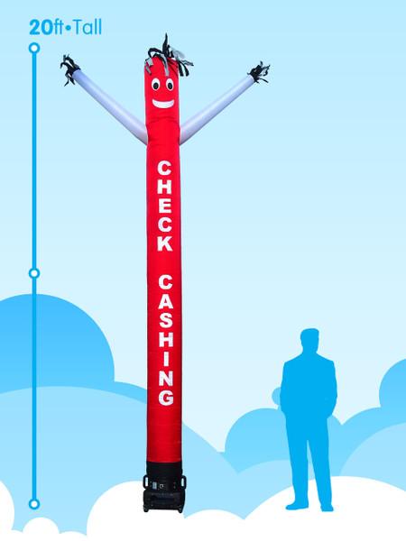 Sky Dancer Check Cashing Red & White - 20ft