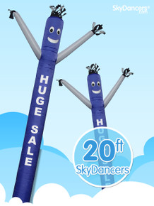 Sky Dancers Huge Sale Blue & White - 20ft