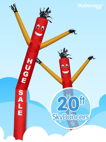 Sky Dancers Huge Sale Red & Yellow - 20ft