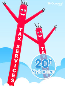 Sky Dancers Tax Services Red - 20ft