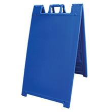Blue Plastic A-Frame