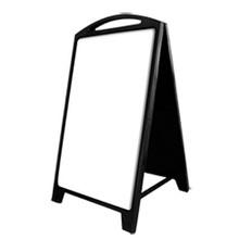 Black Dry Erase Plastic A-Frame