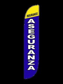 Insurance Aseguranza Feather Flag
