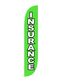 Insurance Green Feather Flag