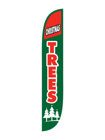 Christmas Trees - Green Feather Flag