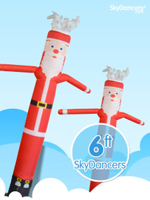 Santa Claus Christmas inflatable sky dancer dancing advertising decoration product.