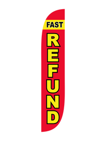 Fast Refund Feather Flag