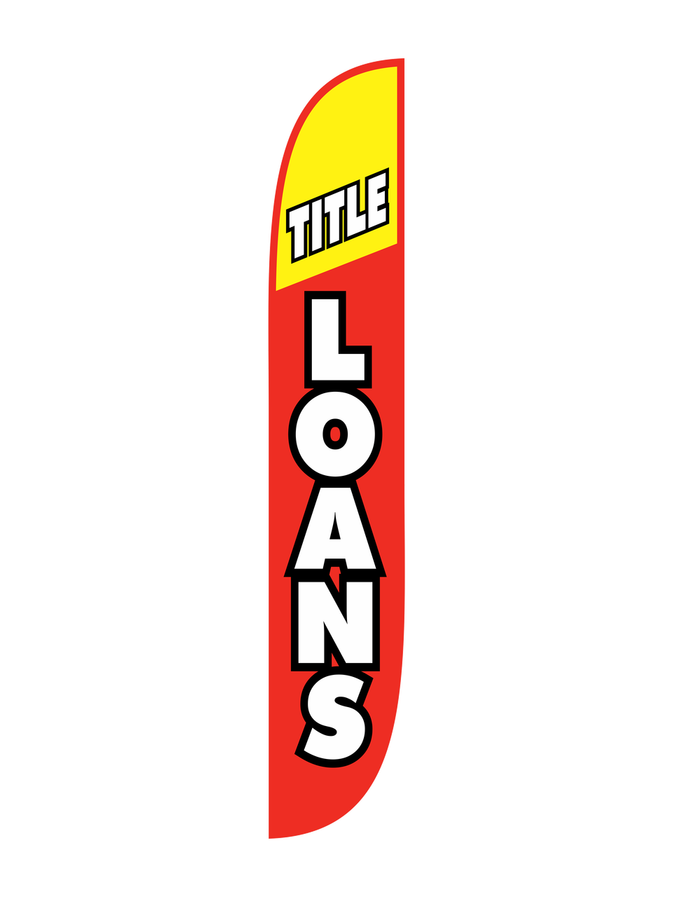 Title Loan Red Amp Yellow Feather Flag