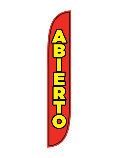 Abierto Red & Yellow Feather Flag