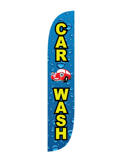 Car Wash Water Drips Feather Flag