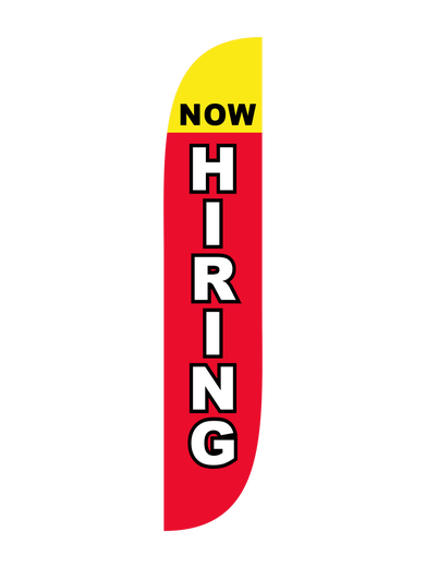 Now Hiring Feather Flag