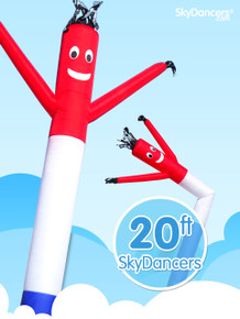 Sky Dancers Red White & Blue - 20ft