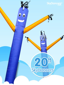 Sky Dancers Blue & Yellow - 20ft