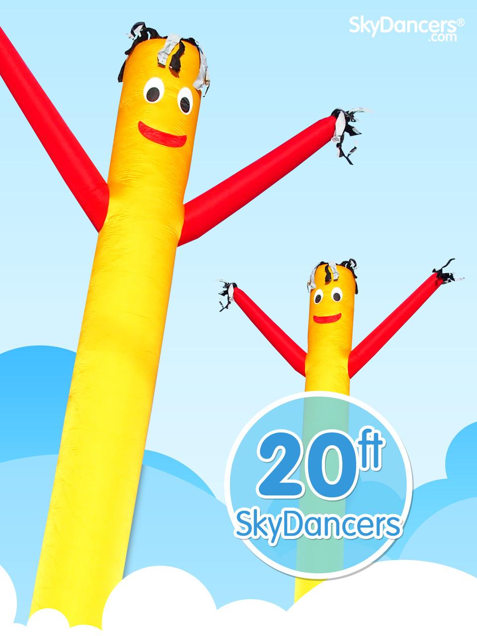 Home sky dancers sky dancers 20ft sky dancer yellow amp red 20ft