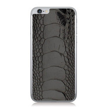 iPhone 6 Back Genuine Ostrich Leg Black Glazed