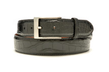 Genuine Alligator Belt Glazed Black