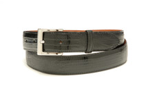 Genuine Lizard Belt Glazed Black