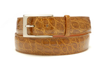 Genuine Crocodile Belt Glazed Cognac