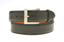 Genuine Alligator Belt Matte Black