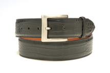 Genuine Alligator Belt Matte Black