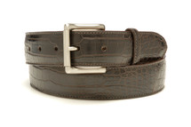 Genuine Alligator Belt Matte Brown