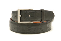 Genuine Crocodile Belt Matte Black