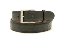 Genuine Crocodile Belt Matte Brown
