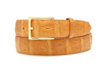 Genuine Crocodile Belt Matte Cognac