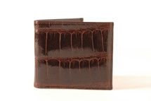 Hipster Genuine Alligator Wallet Glazed Brown with ID Window