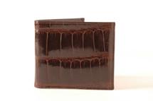 Hipster Genuine Alligator Wallet Glazed Brown with ID Window