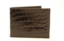 Slimfold Genuine Alligator Wallet Glazed Black