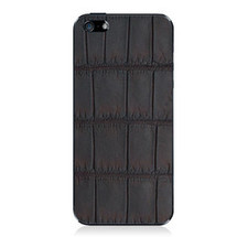 iPhone 5 Back Genuine Alligator Brown Oiled