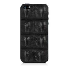 iPhone 5 Back Genuine Crocodile Backstrap Black