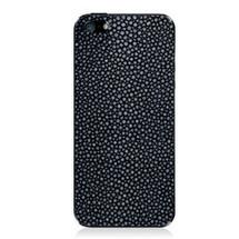 iPhone 5 Back Genuine Stingray Navy Polished