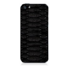 iPhone 5 Back Genuine Python Black