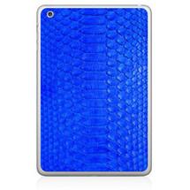 iPad Mini Back Genuine Python Cobalt