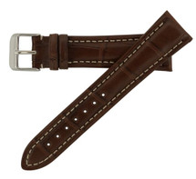 Genuine Alligator Watch Band Chestnut - Breitling Style