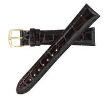 Genuine Alligator Watch Band Glazed Black