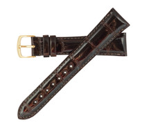 Genuine Alligator Watch Band Glazed Brown