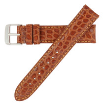 Genuine Alligator Watch Band Matte Tan - Round Grain