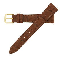 Genuine Alligator Watch Band Semi-Matte Chestnut