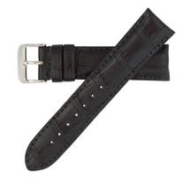 Genuine Alligator Watch Band Matte Black