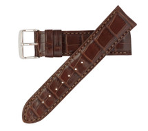 Genuine Alligator Watch Band Matte Brown