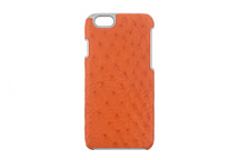 iPhone 6/6S Case Genuine Ostrich Orange