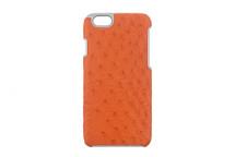 iPhone 6/6S Case Genuine Ostrich Orange
