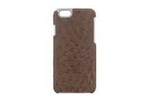 iPhone 6/6S Case Genuine Ostrich Mink