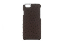 iPhone 6/6S Case Genuine Ostrich Nicotine