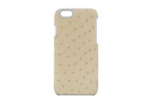 iPhone 6/6S Case Genuine Ostrich Ivory