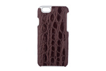 iPhone 6/6S Case Genuine Crocodile Glazed Brown