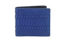 Hipster Genuine Python Wallet Matte Cobalt